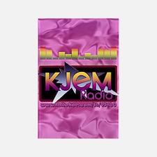 KJEM Radio EQ Pink Logo playing c Rectangle Magnet