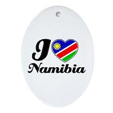 I love Namibia Oval Ornament
