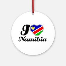I love Namibia Ornament (Round)