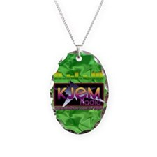 KJEM Radio EQ Green Logo playi Necklace