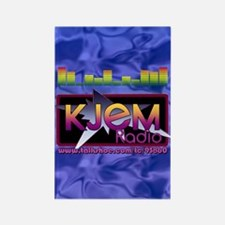KJEM Radio EQ Blue Logo playing c Rectangle Magnet