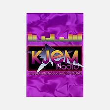KJEM Radio EQ Purple Logo playing Rectangle Magnet