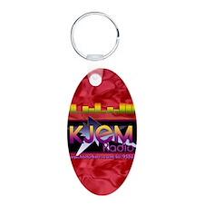 KJEM Radio EQ Red Logo play Keychains