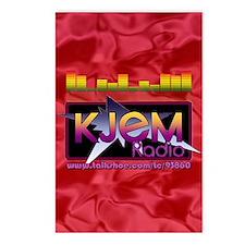 KJEM Radio EQ Red Logo pl Postcards (Package of 8)
