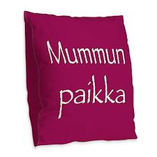 Grandma's Spot Burlap Throw Pillow