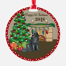 2016 Newfoundlands 1St Christmas Ornament