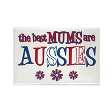 Aussie Mums Rectangle Magnet