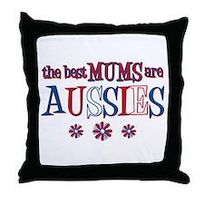Aussie Mums Throw Pillow