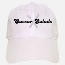 Caesar Salads (fork and knife Baseball Baseball Cap