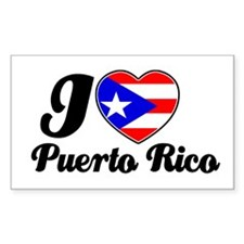 I love Puerto Rico Rectangle Decal