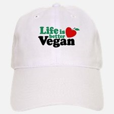 Life is Better Vegan Baseball Baseball Cap