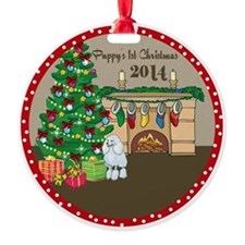 Poodles 1st Christmas Ornament
