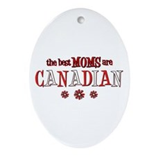 Canadian Moms Oval Ornament