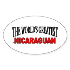 """""""The World's Greatest Nicaraguan"""" Oval Decal"""