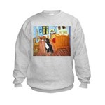 A Room with a Bernese Kids Sweatshirt