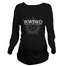 WWSWD What Would Sam Long Sleeve Maternity T-Shirt
