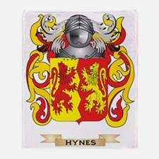 Hynes Coat of Arms (Family Crest) Throw Blanket