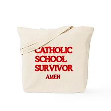 CATHOLIC SCHOOL SURVIVOR AMEN 2 Tote Bag