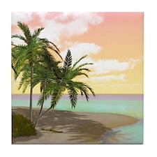 Dreamy Desert Island Tile Coaster
