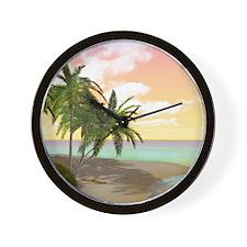Dreamy Desert Island Wall Clock
