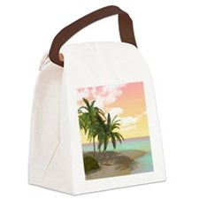 Dreamy Desert Island Canvas Lunch Bag