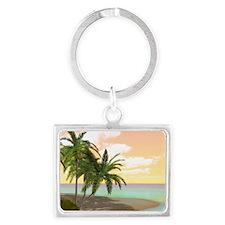 Dreamy Desert Island Landscape Keychain