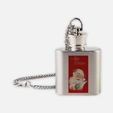 Santa Vintage Flask Necklace