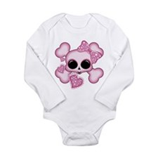 Cute Pink Skull Body Suit