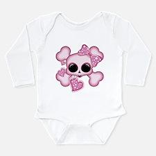 Cute Pink Skull Body Suit