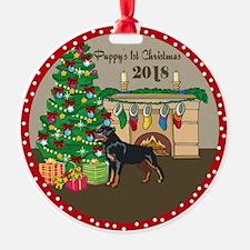 2018 Rottweiler 1St Christmas Ornament