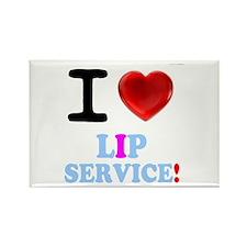 I LOVE LIP SERVICE! Magnets