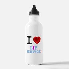 I LOVE LIP SERVICE! Sports Water Bottle