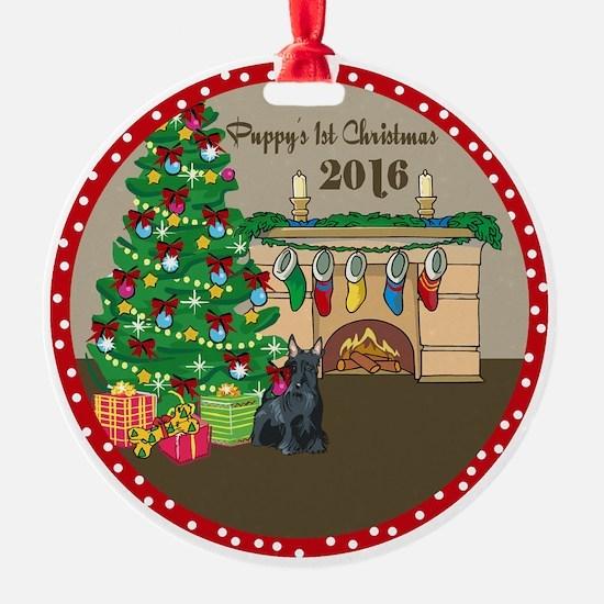 2016 Scottie 1St Christmas Ornament