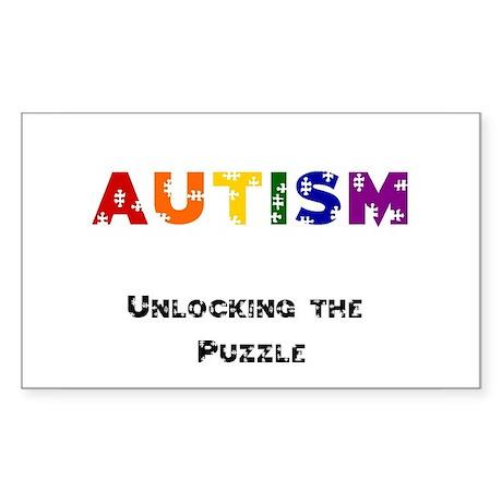 """Unlocking the Puzzle"" Sticker (Rect.)"