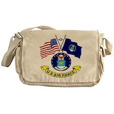 USAF-USA Flags Messenger Bag