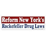 Rockefeller Drug Laws Bumper Sticker