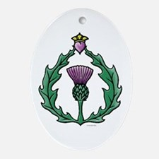 Scotland Thissle Ornament (Oval)