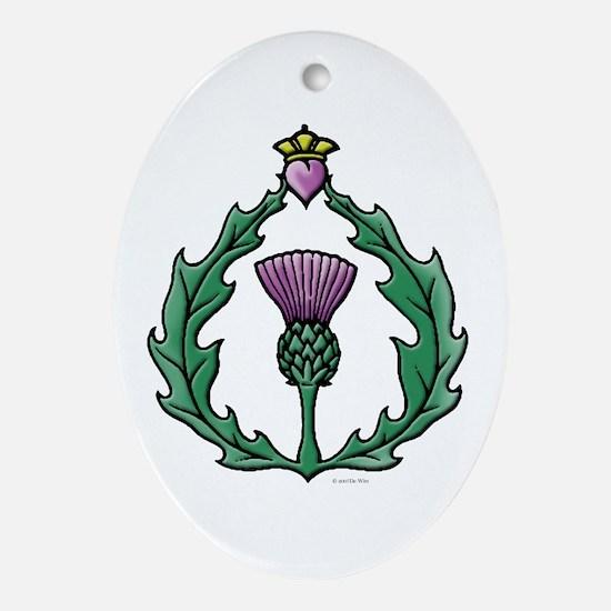 Scotland Thissle Ornament (Oval)