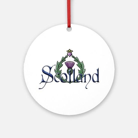 Scotland Thissle Ornament (Round)