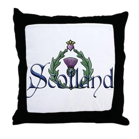 Scotland Thissle Throw Pillow
