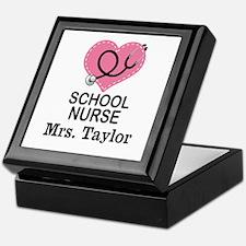 Personalized School Nurse Keepsake Box