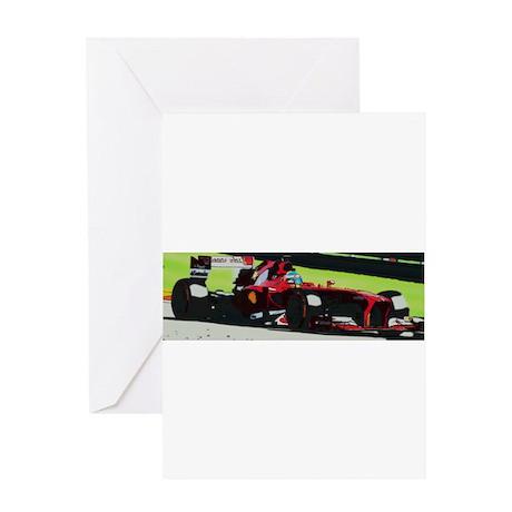 Ferrari F1 Greeting Cards