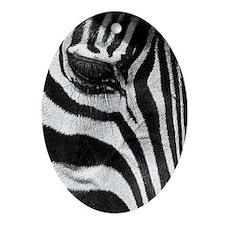 Stripes Oval Ornament