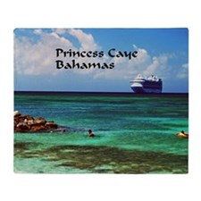 Princess Cay  Throw Blanket
