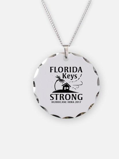 Florida Keys Strong Necklace Circle Charm