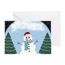 Cartoony Christmas Snowman Greeting Card