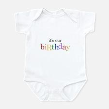 Twins, Triplets It's Our Birthday - Infant Bodysu