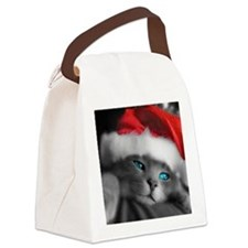 Christmas kitty Canvas Lunch Bag