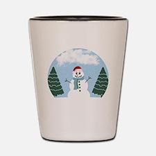 Cartoony Christmas Snowman Shot Glass