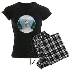Cartoony Christmas Snowman Pajamas